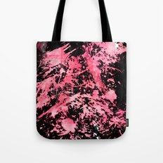 Pink Paint Splatter Tote Bag