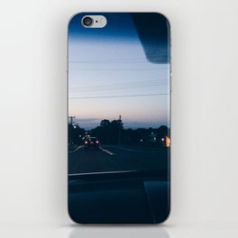 Driving into the sunset iPhone Skin