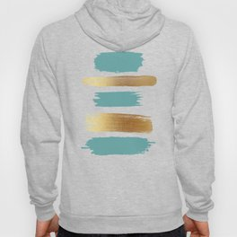 Brush Strokes (Teal/Gold) Hoody