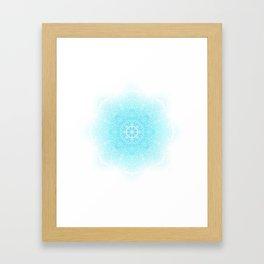 Feather | Leaf Mandala Framed Art Print