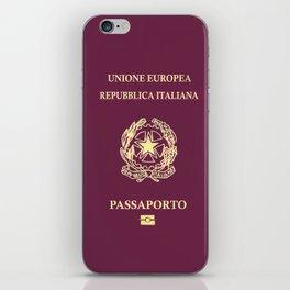 Italian Passport iPhone Skin