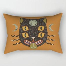 Spooky Cat Rectangular Pillow