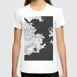 Rio de Janeiro City Map Gray T-shirt