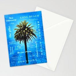 Long Beach, California - Palm Tree -  Pop Art Stationery Cards