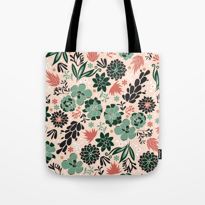 Succulent flowerbed Tote Bag