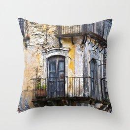 Urban Sicilian Facade Throw Pillow