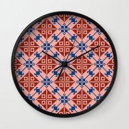 Folk Pattern Wall Clock
