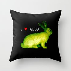 I LOVE ALBA Throw Pillow