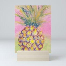 Pineapple - still-life painted by pastel Mini Art Print