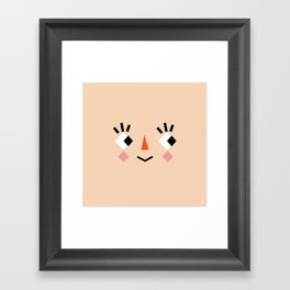 Animal Crossing Creepy Face  Framed Art Print
