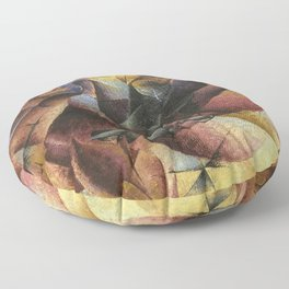 Umberto Boccioni, Elasticity, futurism, abstract painting, modern art, contemporary art, cubism Floor Pillow