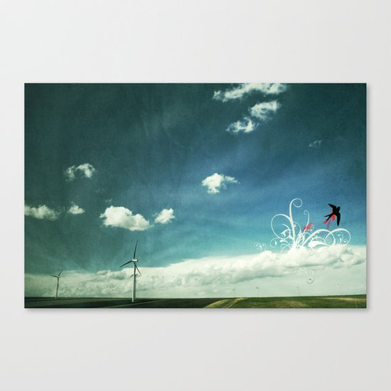 skyred Canvas Print