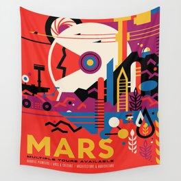 Retro Mars Vacation Ad from NASA Wall Tapestry
