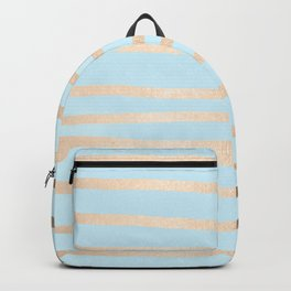 Abstract Drawn Stripes Gold Tropical Ocean Sea Turquoise Backpack