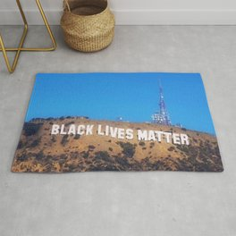 Black Lives Matter - Hollywood Sign Rug