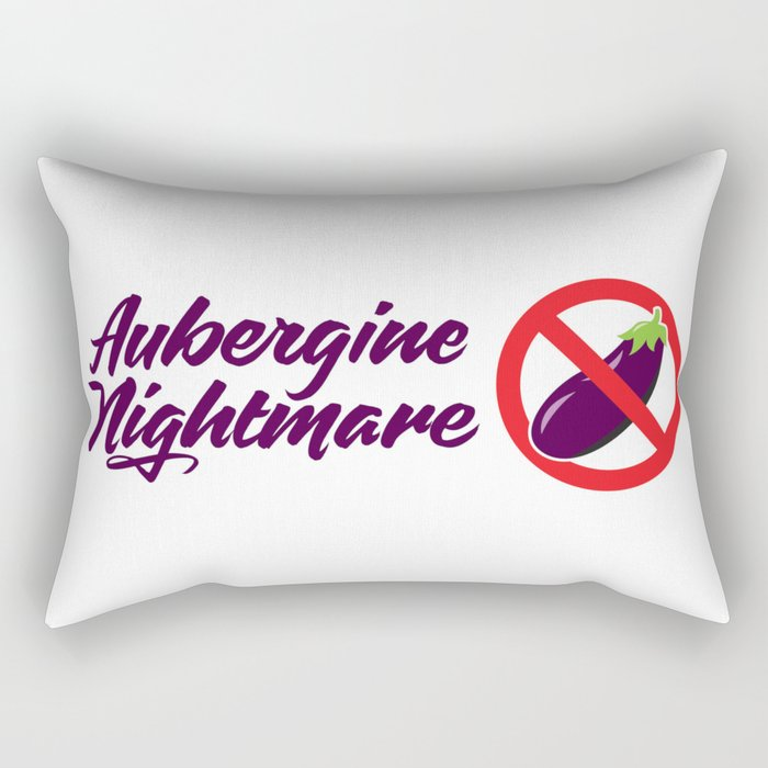 "Aubergine Nightmare ""No Eggplant"" Logo Rectangular Pillow"