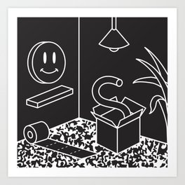 Objects In Room Art Print
