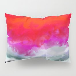 Abstract in Red, White and Purple Pillow Sham