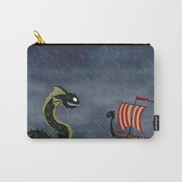 Sea Serpent & Viking Longboat Carry-All Pouch