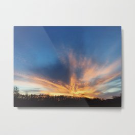 Sunset Fire Metal Print