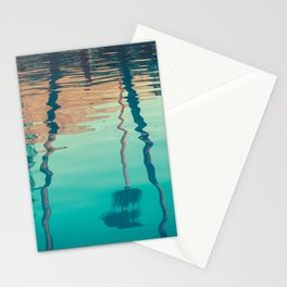 Sunset and Palm Trees Reflected in Tropical Pool Stationery Cards
