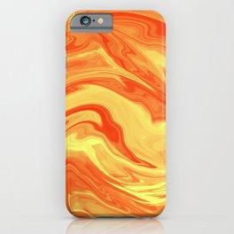 Orange Marble Marble iPhone Case