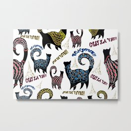 Le Snobby Cat Metal Print