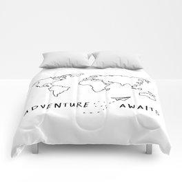 Adventure Map on White Comforters