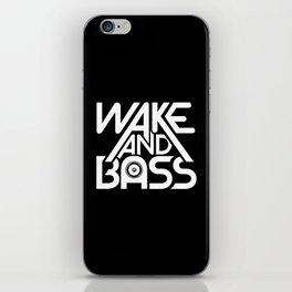 Wake And Bass (White) iPhone Skin