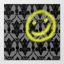 Sherlock smiling wall Canvas Print