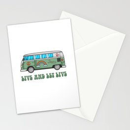Hippie Bus T-Shirt Stationery Cards