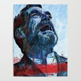 A man mourning Poster