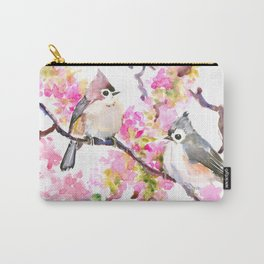 Titmice and Cherry Blossom Carry-All Pouch