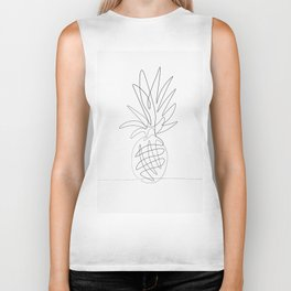 One Line Pineapple Biker Tank
