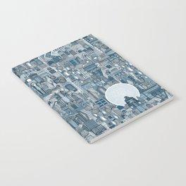 space city mono blue Notebook