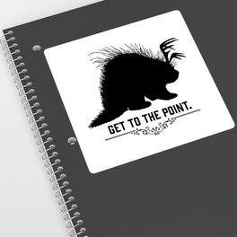 Get to the Point - Porculope Silhouette Sticker