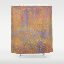 Gelatin Monoprint 23 Shower Curtain