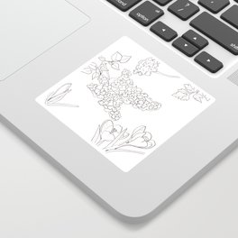 Flora of Fun - Color or Paint Your Own! Sticker