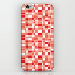 Mod Gingham - Red iPhone Skin