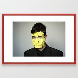 labeling Framed Art Print