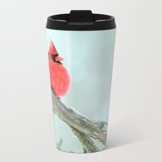 Elegant Cardinal Metal Travel Mug