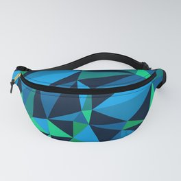 Low Poly Design - Green/Blue Fanny Pack