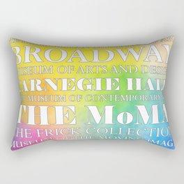 New York City arts - white Rectangular Pillow
