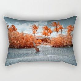 Paradise beach house Rectangular Pillow