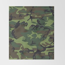 Army Camouflage Throw Blanket