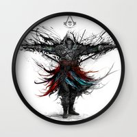 assassins creed Wall Clocks featuring assassins creed by ururuty