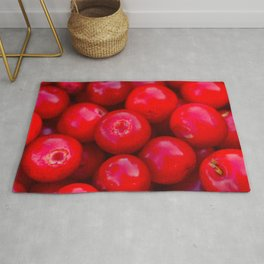 lingonberry berry pattern Rug