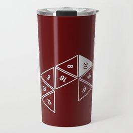 Red Unrolled D20 Travel Mug