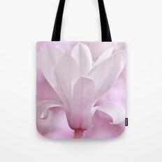 Magnolia flower macro 256 Tote Bag