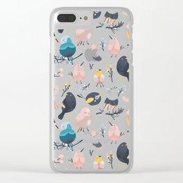 Nursery bundle cute birds Clear iPhone Case